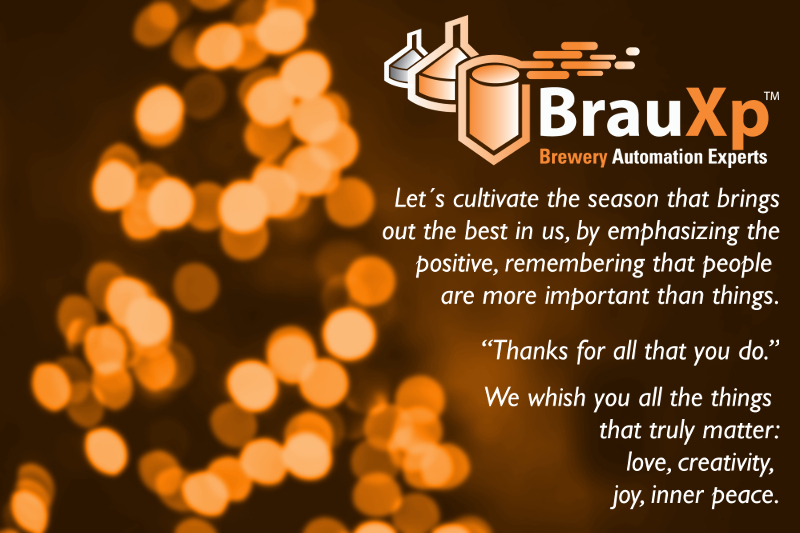 BrauXp – Greetings and Best Wishes for 2016