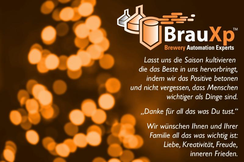 BrauXp – Viele Grüsse und unsere besten Wünsche für                 2016