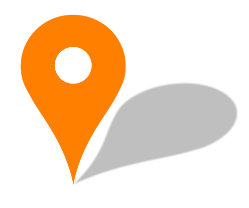 Pin Orange Map Location